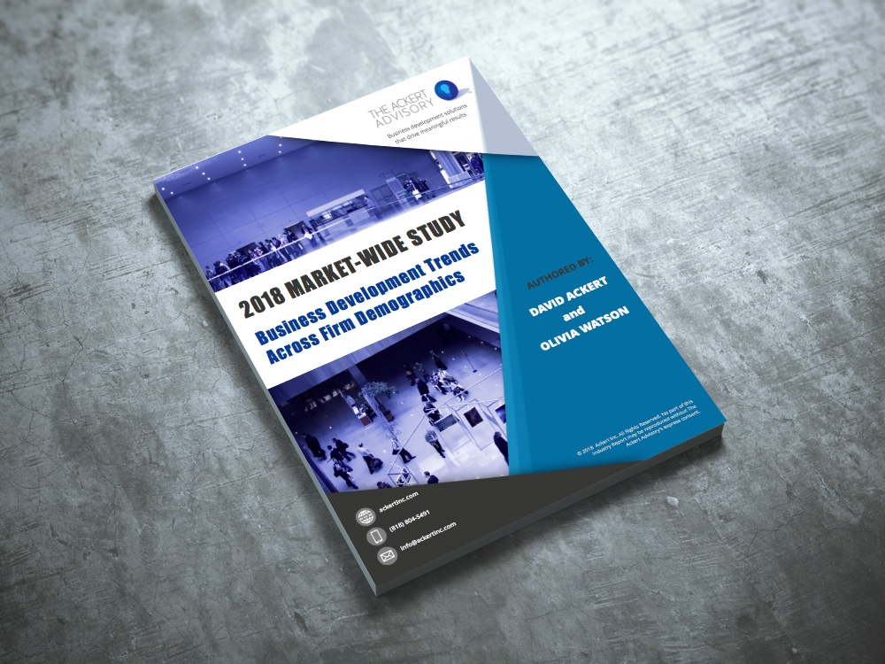 White paper laying on concrete: 2018 Market-Wide study by Ackert Inc.