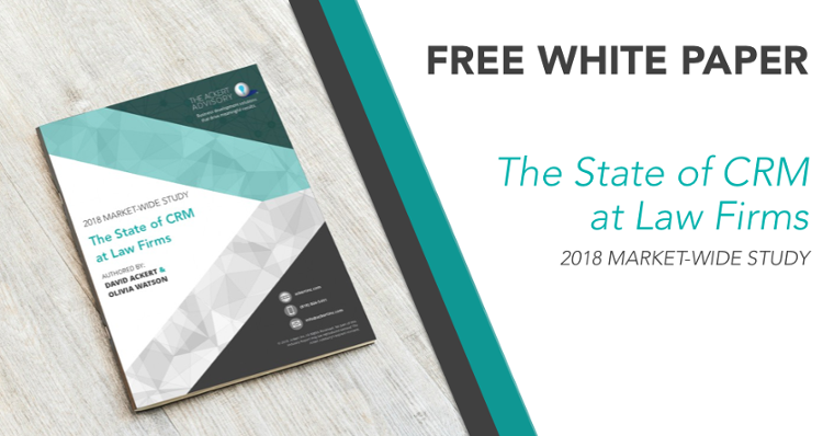 Free White Paper – the state of CRM at Law Firms: 2018 Market-Wide Study