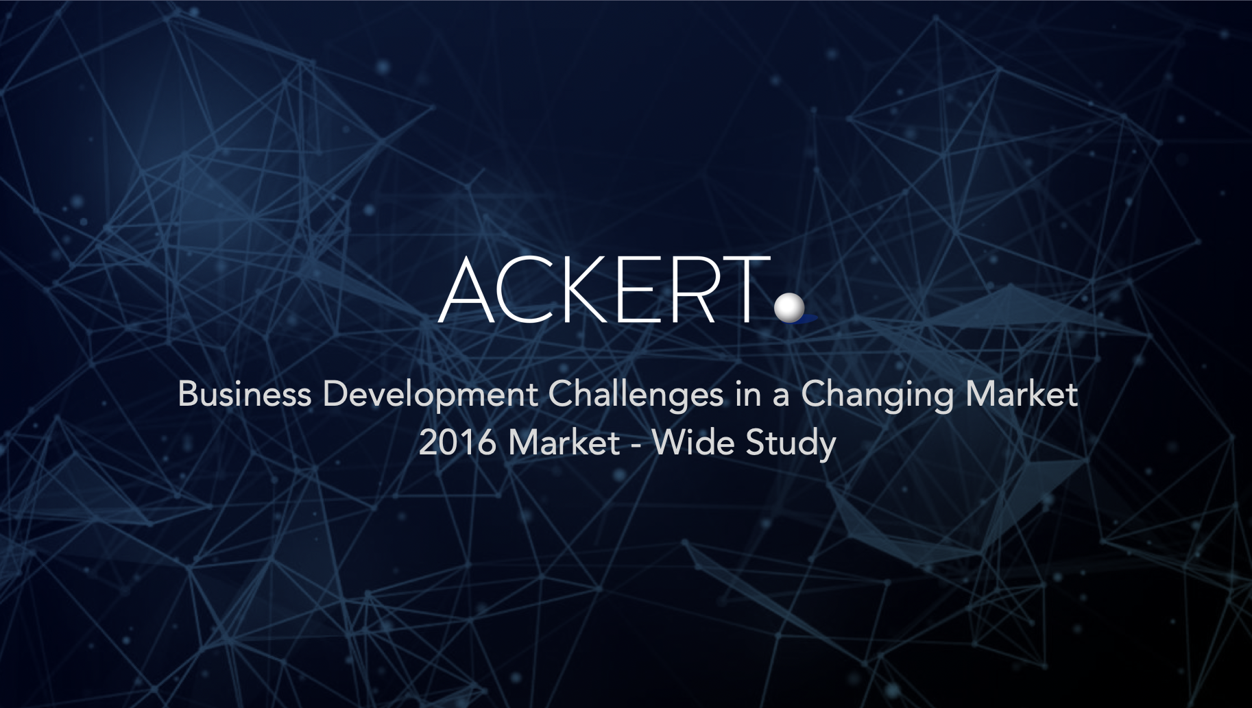header ackert business development challenges 2016 market-wide study