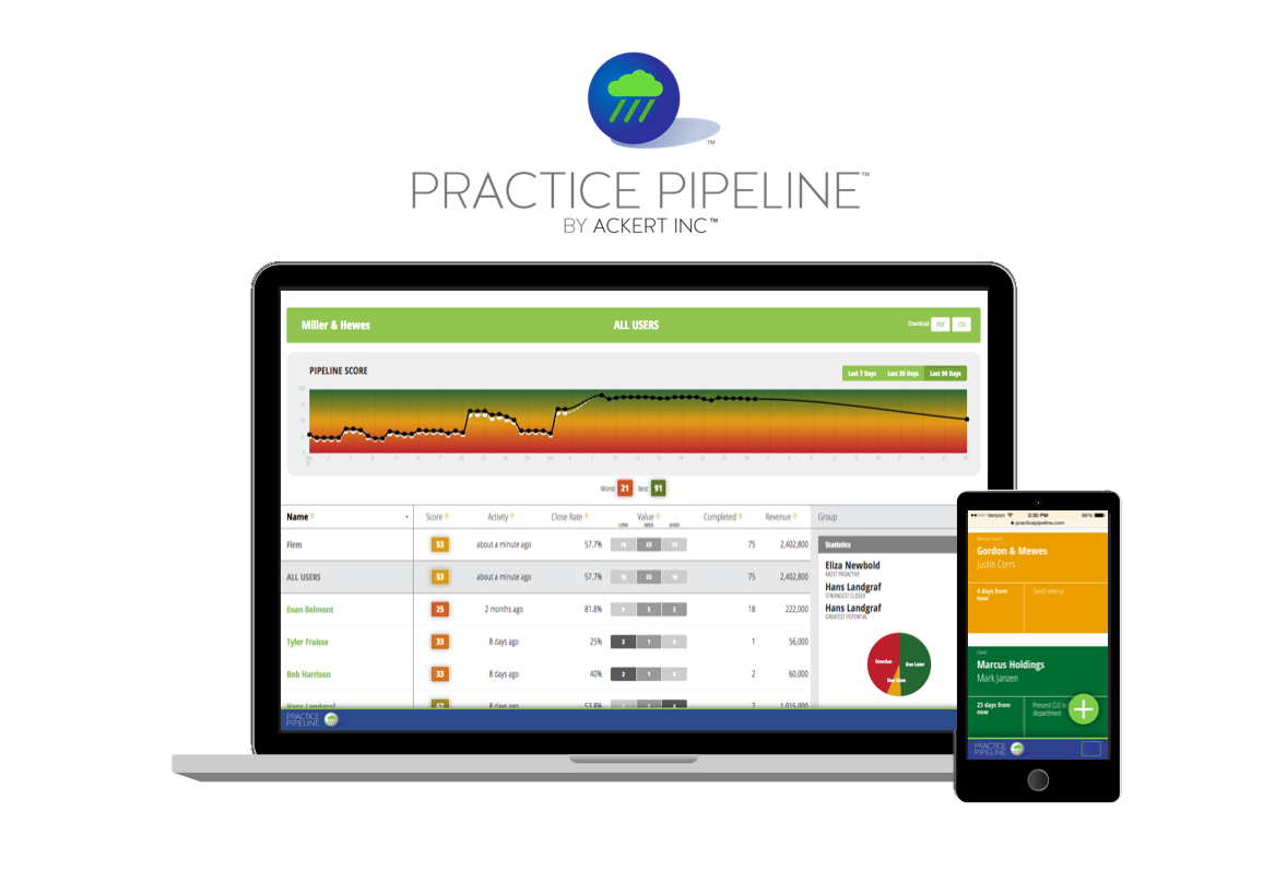 practice pipeline running on computer and mobile device